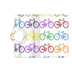 Rainbow Colors Bright Colorful Bicycles Wallpaper Background Kindle Fire Hd (2013) Flip 360 Case by Simbadda