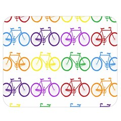 Rainbow Colors Bright Colorful Bicycles Wallpaper Background Double Sided Flano Blanket (medium)  by Simbadda