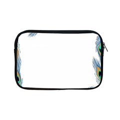 Beautiful Frame Made Up Of Blue Peacock Feathers Apple Ipad Mini Zipper Cases by Simbadda