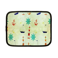 Vintage Seamless Nautical Wallpaper Pattern Netbook Case (Small)