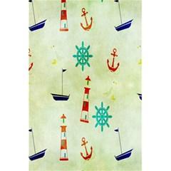 Vintage Seamless Nautical Wallpaper Pattern 5 5  X 8 5  Notebooks by Simbadda