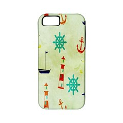Vintage Seamless Nautical Wallpaper Pattern Apple Iphone 5 Classic Hardshell Case (pc+silicone) by Simbadda