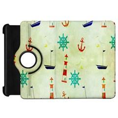 Vintage Seamless Nautical Wallpaper Pattern Kindle Fire Hd 7  by Simbadda