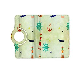 Vintage Seamless Nautical Wallpaper Pattern Kindle Fire Hd (2013) Flip 360 Case by Simbadda