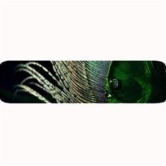 Feather Peacock Drops Green Large Bar Mats by Simbadda