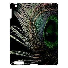 Feather Peacock Drops Green Apple Ipad 3/4 Hardshell Case by Simbadda