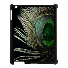 Feather Peacock Drops Green Apple Ipad 3/4 Case (black)