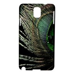 Feather Peacock Drops Green Samsung Galaxy Note 3 N9005 Hardshell Case by Simbadda