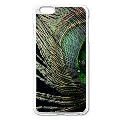 Feather Peacock Drops Green Apple Iphone 6 Plus/6s Plus Enamel White Case by Simbadda