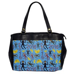 Cute Monkeys Seamless Pattern Office Handbags by Simbadda