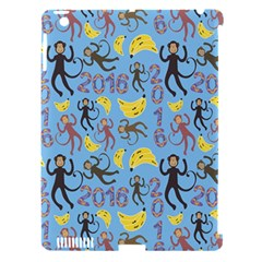 Cute Monkeys Seamless Pattern Apple Ipad 3/4 Hardshell Case (compatible With Smart Cover) by Simbadda