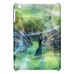 Digitally Painted Abstract Style Watercolour Painting Of A Peacock Apple Ipad Mini Hardshell Case by Simbadda