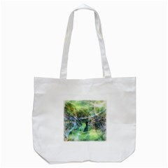 Digitally Painted Abstract Style Watercolour Painting Of A Peacock Tote Bag (white) by Simbadda