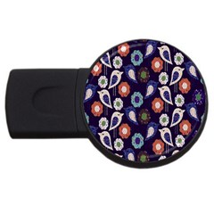 Cute Birds Pattern Usb Flash Drive Round (4 Gb) by Simbadda