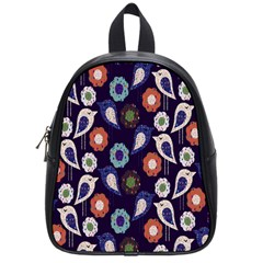 Cute Birds Pattern School Bags (small)  by Simbadda