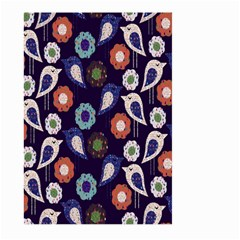 Cute Birds Pattern Large Garden Flag (two Sides) by Simbadda