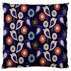 Cute Birds Pattern Standard Flano Cushion Case (one Side) by Simbadda