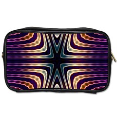 Colorful Seamless Vibrant Pattern Toiletries Bags 2 Side