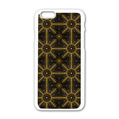 Seamless Symmetry Pattern Apple iPhone 6/6S White Enamel Case by Simbadda