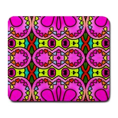 Love Hearths Colourful Abstract Background Design Large Mousepads by Simbadda