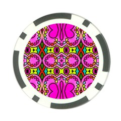 Love Hearths Colourful Abstract Background Design Poker Chip Card Guard by Simbadda