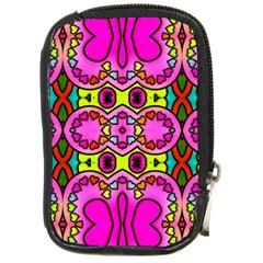 Love Hearths Colourful Abstract Background Design Compact Camera Cases by Simbadda