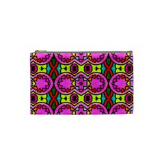 Love Hearths Colourful Abstract Background Design Cosmetic Bag (small)  by Simbadda