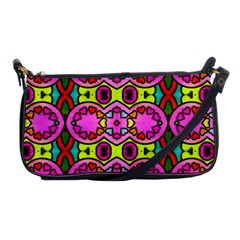 Love Hearths Colourful Abstract Background Design Shoulder Clutch Bags by Simbadda