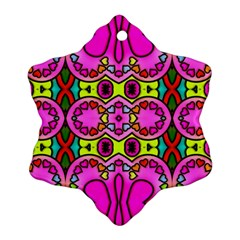 Love Hearths Colourful Abstract Background Design Ornament (snowflake) by Simbadda