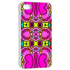 Love Hearths Colourful Abstract Background Design Apple Iphone 4/4s Seamless Case (white) by Simbadda