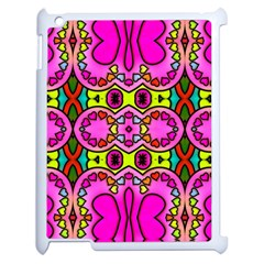Love Hearths Colourful Abstract Background Design Apple Ipad 2 Case (white) by Simbadda