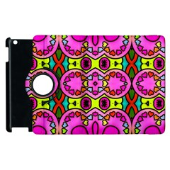 Love Hearths Colourful Abstract Background Design Apple Ipad 3/4 Flip 360 Case by Simbadda