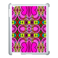 Love Hearths Colourful Abstract Background Design Apple Ipad 3/4 Case (white) by Simbadda