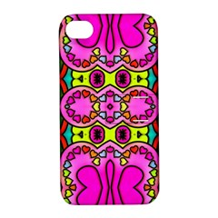 Love Hearths Colourful Abstract Background Design Apple Iphone 4/4s Hardshell Case With Stand by Simbadda