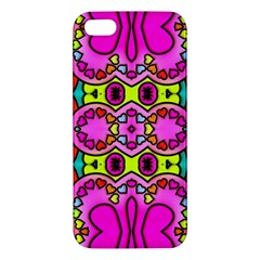 Love Hearths Colourful Abstract Background Design Apple Iphone 5 Premium Hardshell Case by Simbadda