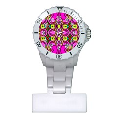 Love Hearths Colourful Abstract Background Design Plastic Nurses Watch by Simbadda