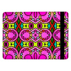 Love Hearths Colourful Abstract Background Design Samsung Galaxy Tab Pro 12 2  Flip Case by Simbadda