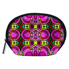 Love Hearths Colourful Abstract Background Design Accessory Pouches (medium)  by Simbadda