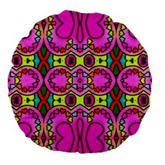 Love Hearths Colourful Abstract Background Design Large 18  Premium Flano Round Cushions by Simbadda