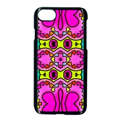 Love Hearths Colourful Abstract Background Design Apple Iphone 7 Seamless Case (black) by Simbadda