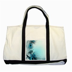 Feathery Background Two Tone Tote Bag by Simbadda