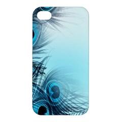 Feathery Background Apple Iphone 4/4s Premium Hardshell Case by Simbadda