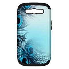Feathery Background Samsung Galaxy S Iii Hardshell Case (pc+silicone) by Simbadda