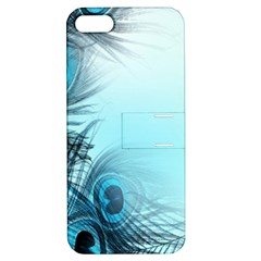 Feathery Background Apple iPhone 5 Hardshell Case with Stand by Simbadda