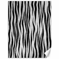 Black White Seamless Fur Pattern Canvas 36  X 48   by Simbadda