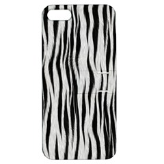 Black White Seamless Fur Pattern Apple Iphone 5 Hardshell Case With Stand by Simbadda