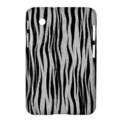 Black White Seamless Fur Pattern Samsung Galaxy Tab 2 (7 ) P3100 Hardshell Case  by Simbadda