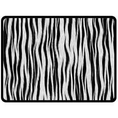 Black White Seamless Fur Pattern Double Sided Fleece Blanket (large)  by Simbadda