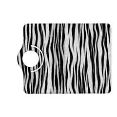 Black White Seamless Fur Pattern Kindle Fire Hd (2013) Flip 360 Case by Simbadda