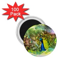 Peacock Digital Painting 1 75  Magnets (100 Pack)  by Simbadda